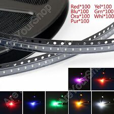 700Pcs 0603 SMD LED Red Green Blue Yellow White Orange Purple 7Colours Ligero