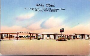 Postcard Adobe Motel U.S. Highway 85 in Santa Fe, New Mexico~949