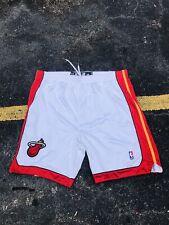 Miami Heat adidas  White Authentic Basketball Game Shorts Size
