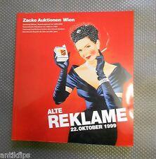 Alte Reklame Autkionskatalog Zacke Auktionen 22. Oktober 1999