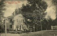 Colebrook CT Stagecoach Stage at Post Office c1910 Postcard