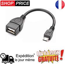 Cable Adaptateur MICRO USB Mâle OTG vers USB Femelle Tablette Smartphone (NEUF)