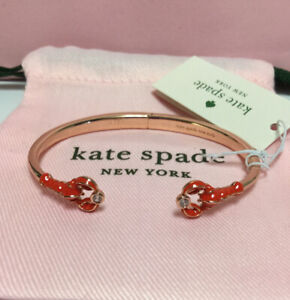 NWT Kate Spade New York Lobster Love Rose Gold Tone Cuff Bracelet New