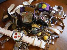 Lot Of 25 Watches Vintage Modern Repair Parts Estate Guess Quartz Ladybug Klein