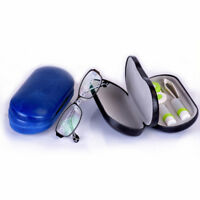 Glasses Case Contact Lens Case Double Sided Travel 2 in 1 Hard Case QK