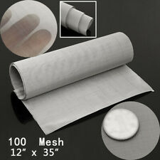 100 Mesh Stainless Steel Woven Wire Cloth Screen Filter Sheet 12'' X 35