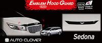 Acrylic Bonnet Hood Guard Garnish Deflector Black D574 for KIA Sedona 2016~2020