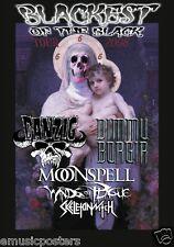 """DANZIG / DIMMU BORGIR / MOONSPELL""""BLACKEST OF BLACK 2008 TOUR"""" CONCERT POSTER"""