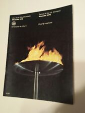 Vintage Montreal 1976 Olympic Game Closing Ceremony  Program