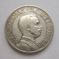 1908  ITALY  2  LIRE  SILVER  COIN  -  SEMI KEY  DATE