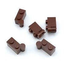 Lego 5 New Reddish Brown Hinge Bricks 1 x 4 Swivel Top Pieces