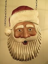 """""""HANGING SANTA"""" Replacement Sign - Resin Sign for Country Arrow Holders"""