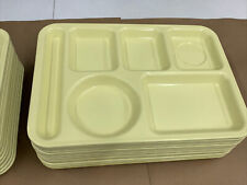 New listing Lot of 25 Vintage Light YellowDivided Cafeteria Tray Melamine Arrowhead 1400-A