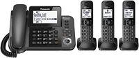 Panasonic KX-TGF383M Link2Cell Bluetooth Corded/Cordless Phone System 3 Handsets