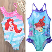 Girls Kids Mermaid Swimwear Swimming Costume Swimsuit Bikini  Bathing Suit 2-7Y