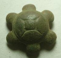 Rare Ancient Roman Sacrificial Ritual Lead Amphora artifact decorated ampulla