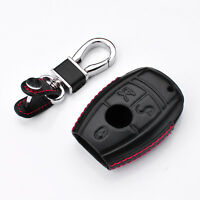 Genuine Leather Key Fob Case Cover for Mercedes-Benz GLK CLA GLA GLC GLE CLS AMG