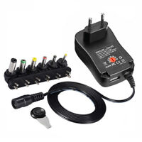 Universal Adjustable Voltage USB Port Power Supply AC/DC Adapter Charger Switch