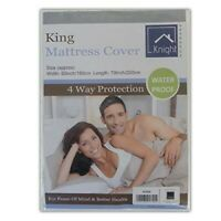Knight Mattress Cover Double King SuperKing 4way Protection Waterproof Protector