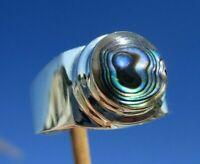 Abalone - Perlmutt Ring Gr. 18,5 Silber 925  !