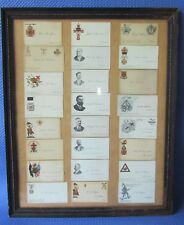 24- Fraternal (Free Masons...) Calling Cards- Framed  [Great Variety of Cards]