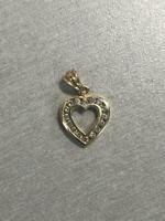 "0.25 Ct Round Channel Set Diamond Heart Pendant 18"" Necklace 14k Yellow Gold GP"