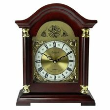 Bed1924 Bedford Clock Collection Redwood Mantel With Chimes 013964973044