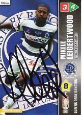 Un Panini 2008 CARD. personalmente firmato mikele leigertwood di Queens Park Rangers.