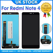 Black For Xiaomi Redmi Note 4 LCD Touch Screen Display Assembly Replacement