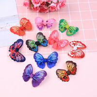 10 Pcs cute kids girls toddler baby 3D butterfly hair clip grosgrain hairpin  LA