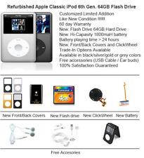 64GB Flash Custom Refurb Apple iPod Classic 6th Gen Mint Condition Multi Color