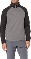 Craghoppers Men's Norton Outdoor Fleece Top, Black Pepper/Quarry Grey, Medium