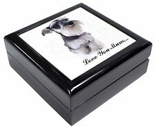 Schnauzer Dog 'Love You Mum' Keepsake/Jewellery Box Christmas Gift, AD-S67lymJB