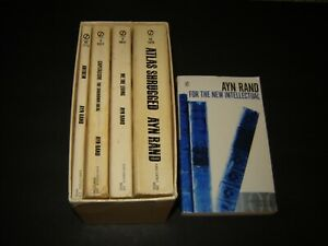 Ayn Rand Lot 5 VTG Signet Box Set MMPB: Anthem Atlas Capitalism New Intellectual