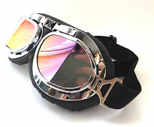 Campbell Cooper New Pilot Steampunk Cyber Fantasy Goggles Rainbow Lens One Size