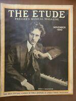 "THE ETUDE PRESSER'S MUSICAL MAGAZINE ""NOVEMBER 1920"" VINTAGE RARESHEET MUSIC"