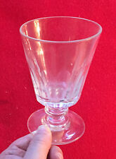 Antique French 19th century Thumb Cut White Red Wine Glass Crystal Goblet
