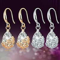 Gorgeous 925 Silver,Gold,Rose Gold Drop Earrings for Women Jewelry A Pair/set