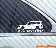 2x Custom YOUR TEXT lowered car sticker - For Subaru Forester Turbo SF / 1st gen