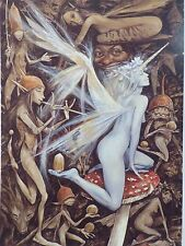 "Brian Froud  Art Print 2009 ""NUTS IN MAY""  7.5"" X 10.5"" -FAERIES 2010"