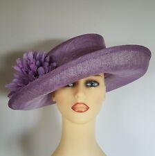 Ladies Wedding Hat Races Dark Mauve Large Flower by Jacques Vert - Free Postage