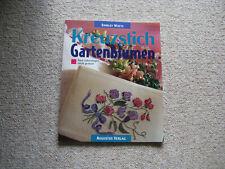 Shirley Watts, Kreuzstich Gartenblumen, Zählvorlagen, Augustus Verlag,