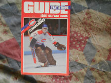 1985-86 MONTREAL CANADIENS MEDIA GUIDE Yearbook NHL STANLEY CUP CHAMPS 1986 AD