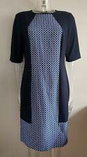 JAEGER Womens Blue Mix Dress UK Size 14