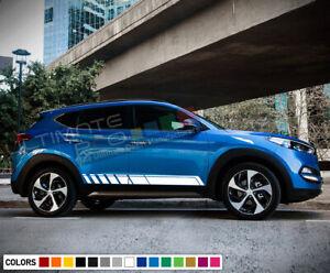 Stickers Decal Kit for Hyundai Tucson Stripes Graphics Chroma Handle Mirror door