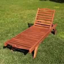 Sdraio reclinabile in teak lettino prendisole con porta bevande e ruote