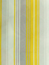5 Meters Nova Striped Curtain Fabric £16.5/Mtr - Yellow - Mimosa