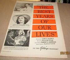 """""""The Best Years Of Our Lives""""-<1946>- [Original Movie Ad]-Dana Andrews"""