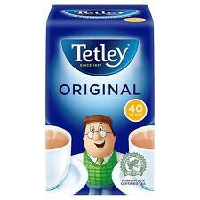 TETLEY ORIGINAL 40 CUPS TEA BAGS 125g OFFICE TRAVEL HOLIDAYS HOME (202392)