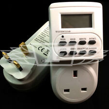 7 DAY DIGITAL LCD ELECTRONIC PLUG-IN PROGRAM 12/24 HOUR TIMER SWITCH SOCKET